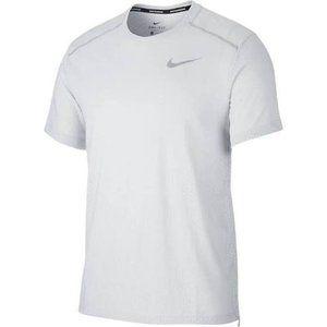 Nike Dri-FIT Running Men Short Sleeve White L New